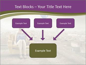 Woman sitting PowerPoint Template - Slide 70