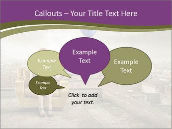 Woman sitting PowerPoint Template - Slide 73