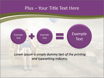 Woman sitting PowerPoint Template - Slide 75