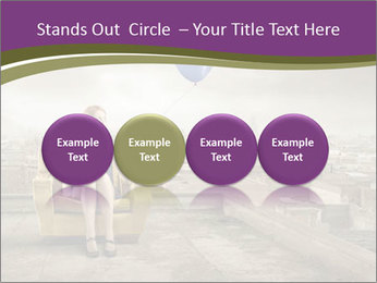 Woman sitting PowerPoint Template - Slide 76