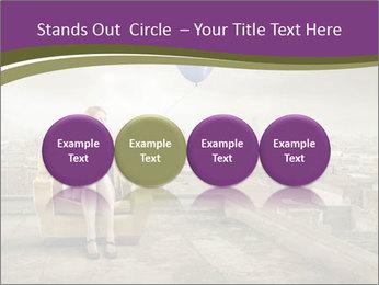 Woman sitting PowerPoint Template - Slide 76