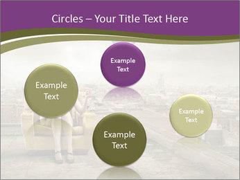 Woman sitting PowerPoint Template - Slide 77