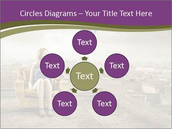 Woman sitting PowerPoint Template - Slide 78