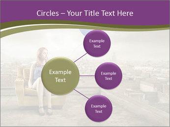 Woman sitting PowerPoint Template - Slide 79