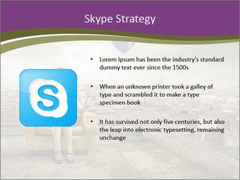 Woman sitting PowerPoint Template - Slide 8
