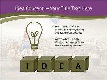 Woman sitting PowerPoint Template - Slide 80