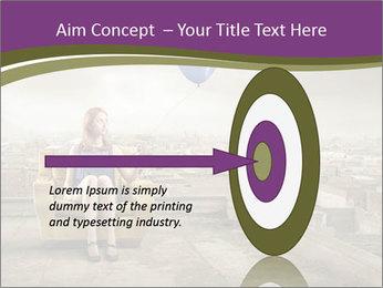 Woman sitting PowerPoint Template - Slide 83
