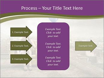 Woman sitting PowerPoint Template - Slide 85