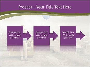 Woman sitting PowerPoint Template - Slide 88