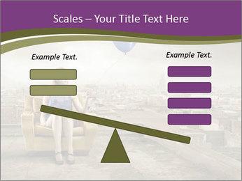 Woman sitting PowerPoint Template - Slide 89