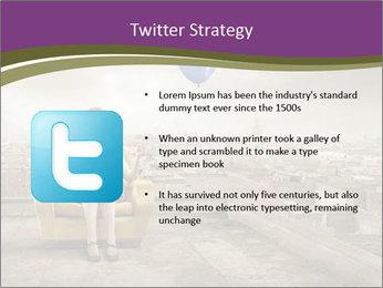 Woman sitting PowerPoint Template - Slide 9