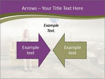 Woman sitting PowerPoint Template - Slide 90