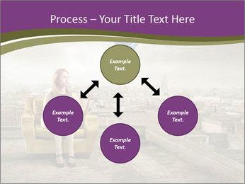 Woman sitting PowerPoint Template - Slide 91