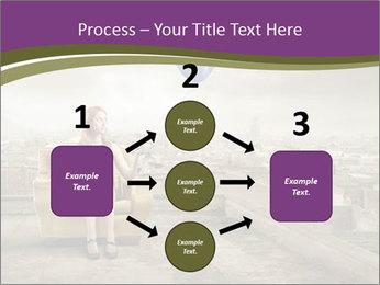 Woman sitting PowerPoint Template - Slide 92