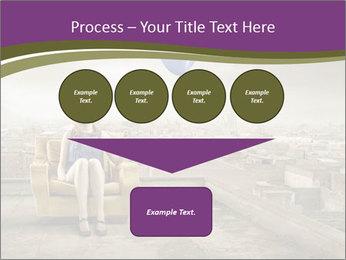 Woman sitting PowerPoint Template - Slide 93