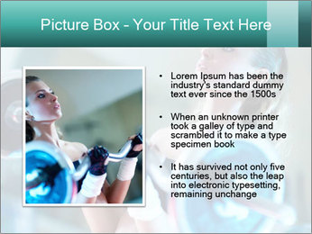 Training young woman PowerPoint Template - Slide 13