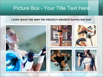 Training young woman PowerPoint Template - Slide 19