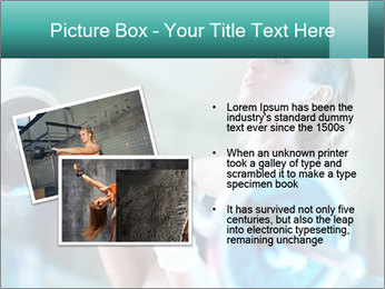 Training young woman PowerPoint Template - Slide 20