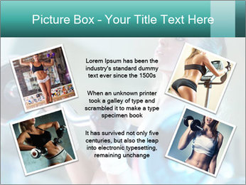Training young woman PowerPoint Template - Slide 24
