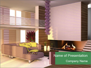 Interior of the house PowerPoint Template - Slide 1