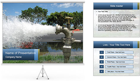 Water Pipes PowerPoint Template