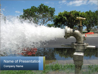 Water Pipes PowerPoint Templates - Slide 1