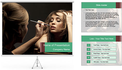 Professional Make-up PowerPoint Template