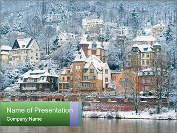 Traditional mansions PowerPoint Templates - Slide 1