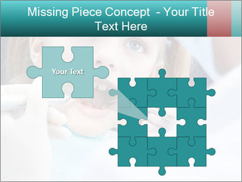 Child examines PowerPoint Template - Slide 45