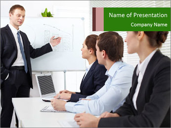 Three businesspeople PowerPoint Template - Slide 1