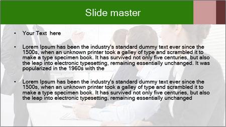 Three businesspeople PowerPoint Template - Slide 2