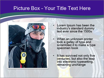 Hiker at the mountains PowerPoint Template - Slide 13