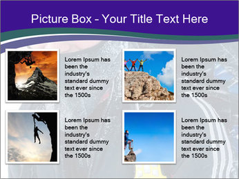 Hiker at the mountains PowerPoint Template - Slide 14