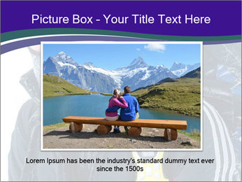 Hiker at the mountains PowerPoint Template - Slide 15