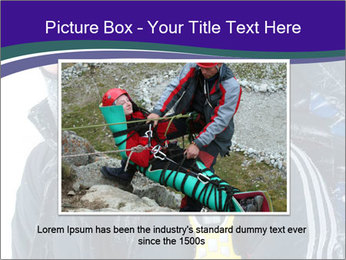 Hiker at the mountains PowerPoint Template - Slide 16