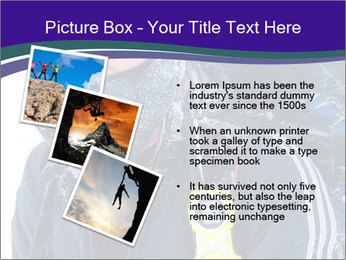 Hiker at the mountains PowerPoint Template - Slide 17