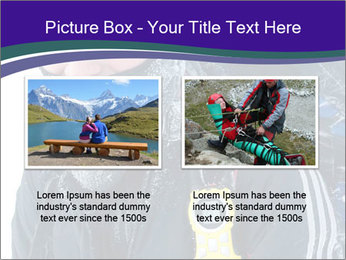 Hiker at the mountains PowerPoint Template - Slide 18