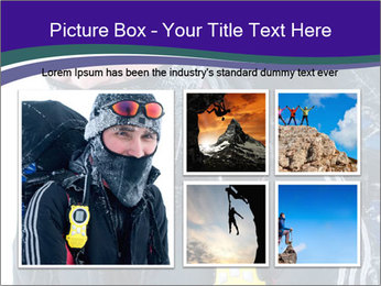 Hiker at the mountains PowerPoint Template - Slide 19