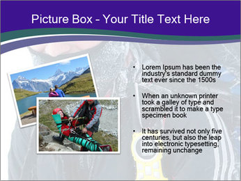 Hiker at the mountains PowerPoint Template - Slide 20