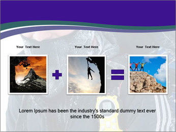 Hiker at the mountains PowerPoint Template - Slide 22
