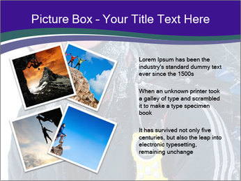 Hiker at the mountains PowerPoint Template - Slide 23