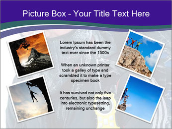 Hiker at the mountains PowerPoint Template - Slide 24