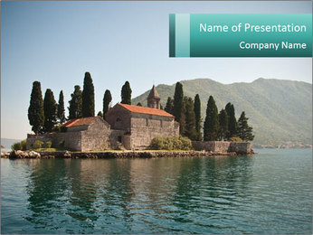 Floating Church PowerPoint Template