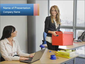 Blonde woman PowerPoint Template