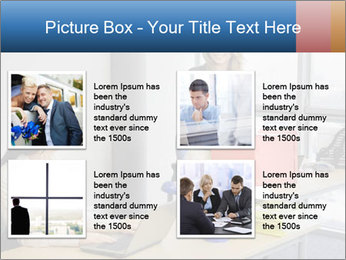 Blonde woman PowerPoint Template - Slide 14