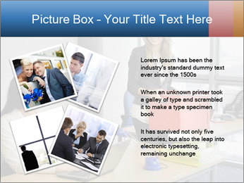 Blonde woman PowerPoint Template - Slide 23
