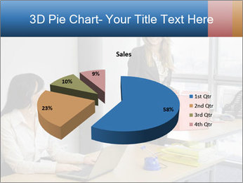 Blonde woman PowerPoint Template - Slide 35