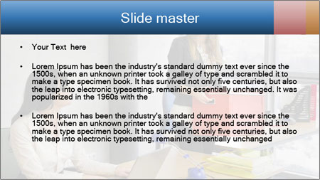 Blonde woman PowerPoint Template - Slide 2