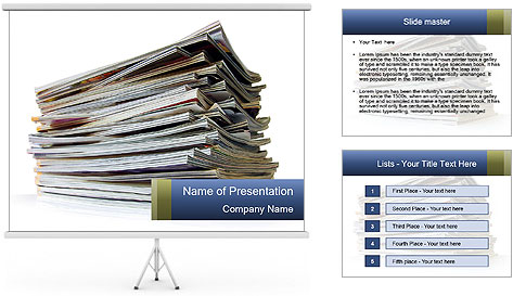 Old magazines PowerPoint Template