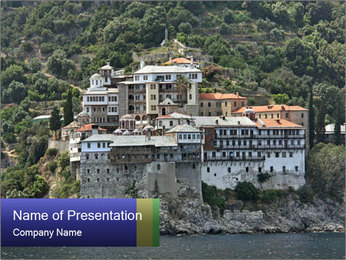Holy monastery of Athos PowerPoint Templates - Slide 1
